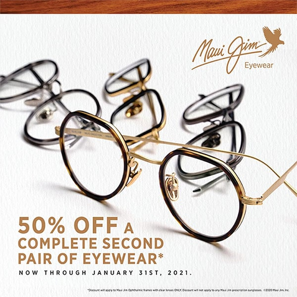 Maui Jim Buy One Get One for 50% off Promotion