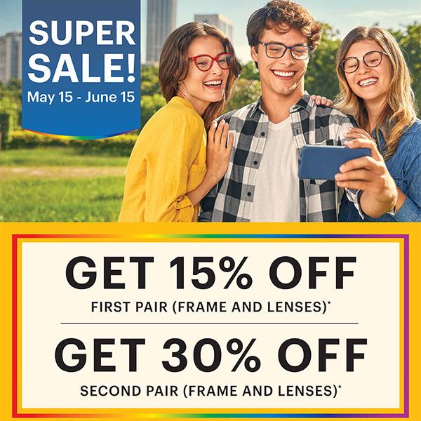 Super Sale until June 15!