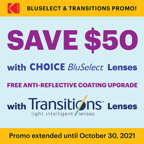 BluSelect & Transitions Promotion!